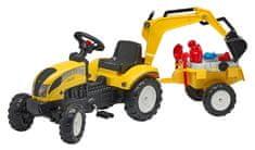 Falk Traktor žlutý Ranch Trac s valníkem a zadní lžící