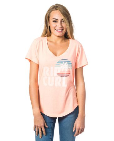 Rip Curl ženska majica Sun And Surf S lososa