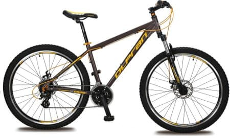 "Olpran muški brdski bicikl Extreme Disc 27.5, žuto-crni, 17"""