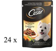 Cesar saszetki dla psa kurczak i warzywa w sosie 24x100g