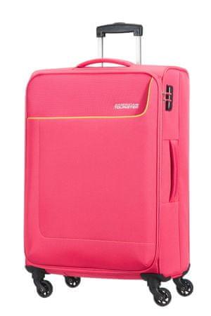 American Tourister kovček Funshine, spinner 66 cm, roza