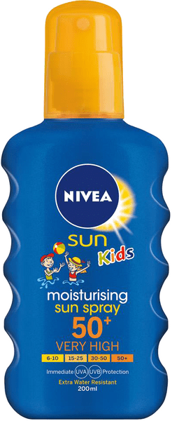Nivea SUN Dětský barevný sprej na opalování OF50+ 200 ml