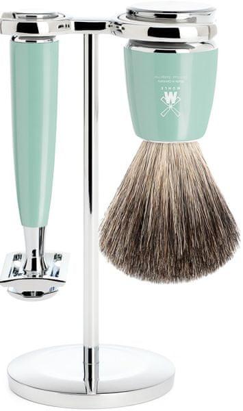 Mühle Rytmo sada na holení, Pure Badger, žiletka, Mint
