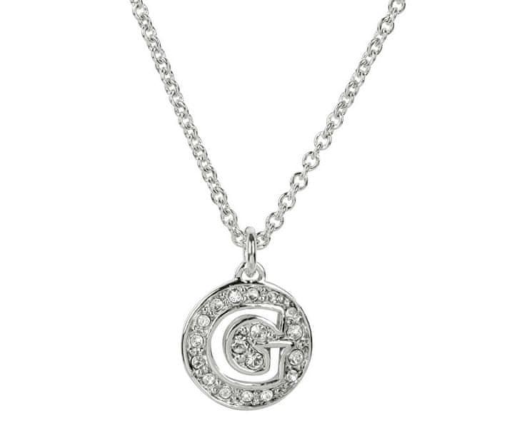 Guess Slušivý náhrdelník s přívěskem zdobeným krystaly UBN51478