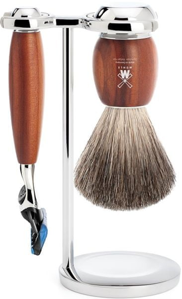Mühle Vivo sada na holení, Pure Badger, Fusion, Plum Wood