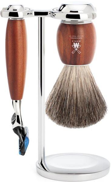 Mühle Vivo sada na holení, Pure Badger, Fusion, Plum Wood