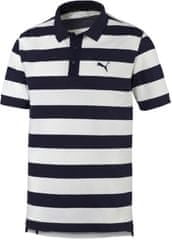 Puma polo majica ESS Striped Pique Peacoat