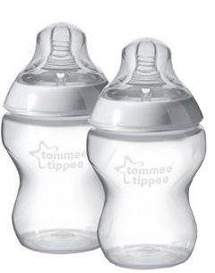 Tommee Tippee Closer to Nature BPA-mentes cumisüveg, 2 x 260 ml