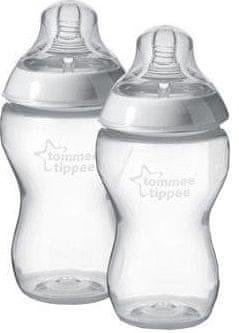 Tommee Tippee kojenecká láhev C2N 2ks, 340ml, 3+m