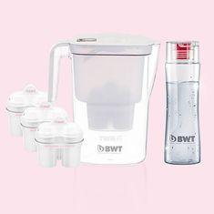 BWT Vida Vízszűrő szett 3 filterrel + 1 kulaccsal, Fehér
