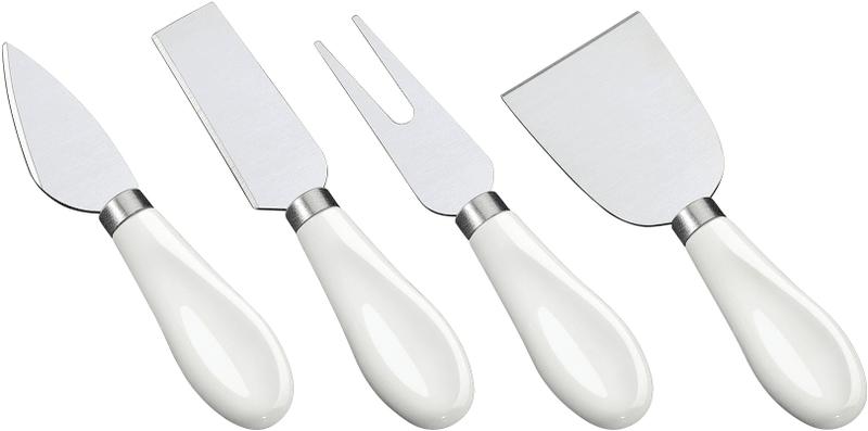 Cilio Set nožů na sýr s porcelánovou rukojetí, 4 ks