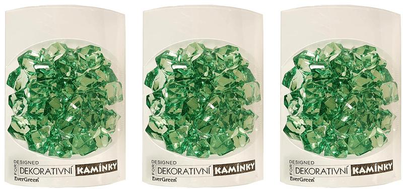 EverGreen Dekorační kamínky 3 ks zelená