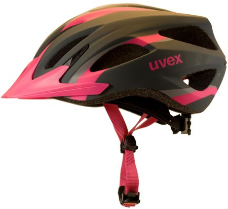Uvex kolesarska čelada Viva 2 W (2017), črna/roza, 52 - 57