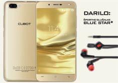 Cubot GSM telefon Rainbow 2, zlat + športne slušalke