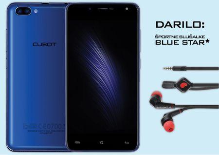 Cubot GSM telefon Rainbow 2, moder + športne slušalke