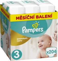Pampers Plienky Premium Care 3 (Midi) - 204 ks