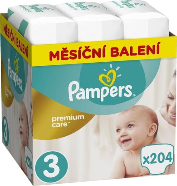 Pampers Pleny Premium Care 3 (Midi) - 5-9 kg, 204 ks