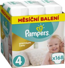 Pampers Pleny Premium Care 4 (Maxi) - 8-14 kg, 168 ks