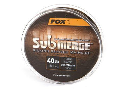 Fox Pletená šňůra Submerge Dark Camo 0,30 mm 50 lb 600 m