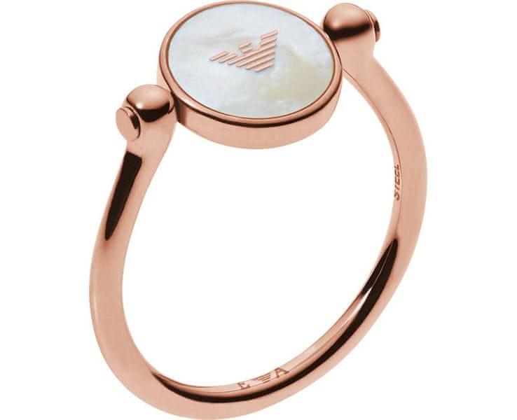 Emporio Armani Něžný prsten EGS2161221 (Obvod 57 mm)