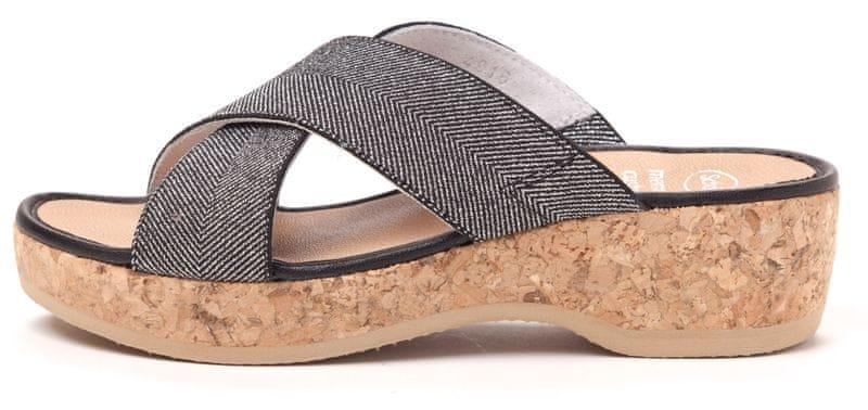 Scholl dámské pantofle Tansy 36 stříbrná