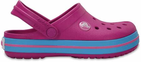 Crocs otroški čevlji Crocband Clog, vijolični, 27 - 28