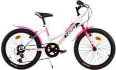 """Dino bikes Aurelia 20"""" dievčenský, biela"""