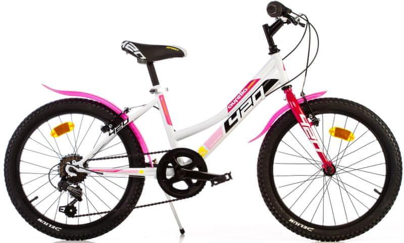 "Dino bikes Aurelia 20"" dívčí bílá"