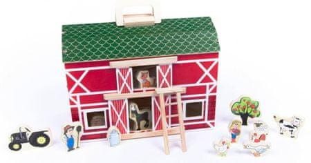 Teddies drewniana farma z akcesoriami