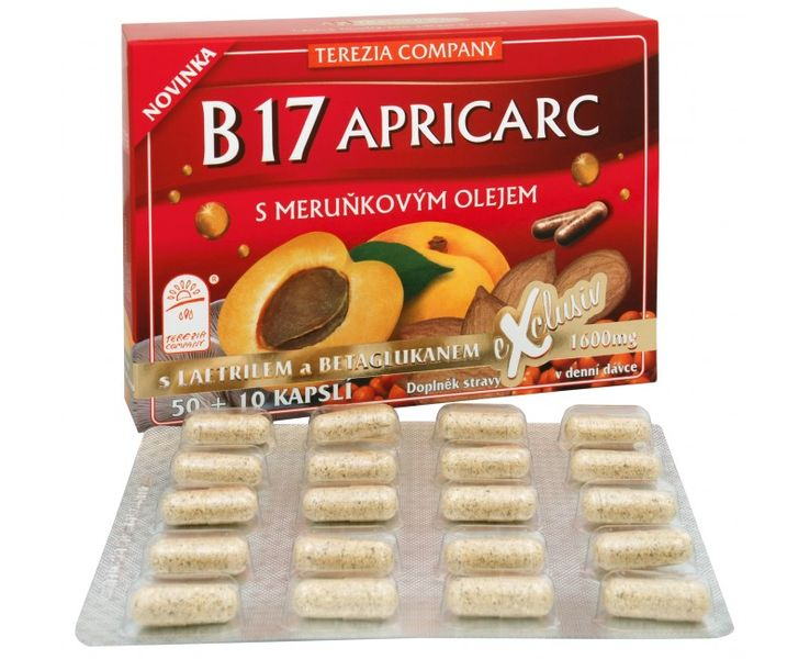 TEREZIA COMPANY B17 Apricarc s meruňkovým olejem 50 kapslí + 10 kapslí ZDARMA