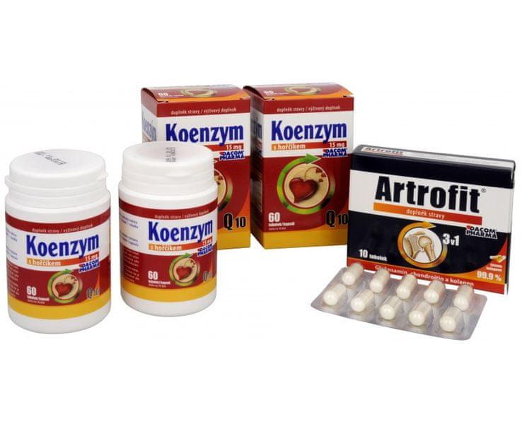 Dacom Pharma Koenzym Q10 s hořčíkem DUO 2x60 tob. (Varianta Artrofit 10 tob.)