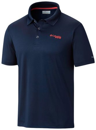 COLUMBIA Low Drag Polo Collegiate Navy red S
