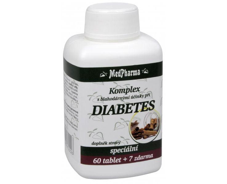 MedPharma Komplex Diabetes 60 tbl. + 7 tbl. ZDARMA