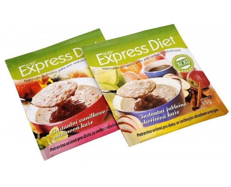 Good Nature Express Diet - instantní kaše (Příchuť Vanilkovo-malinová 53 g)