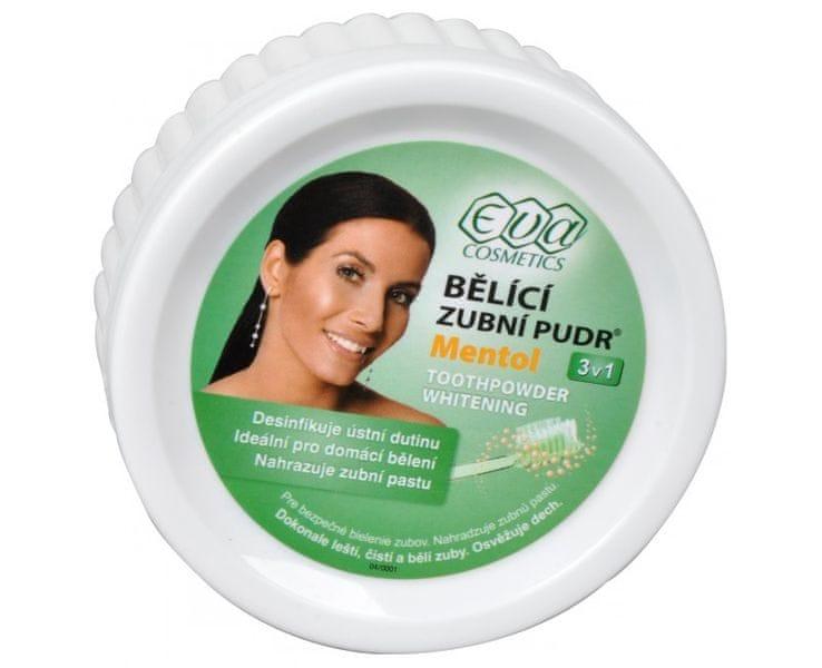 Eva Cosmetics EVA bělící zubní pudr (menthol) 30 g