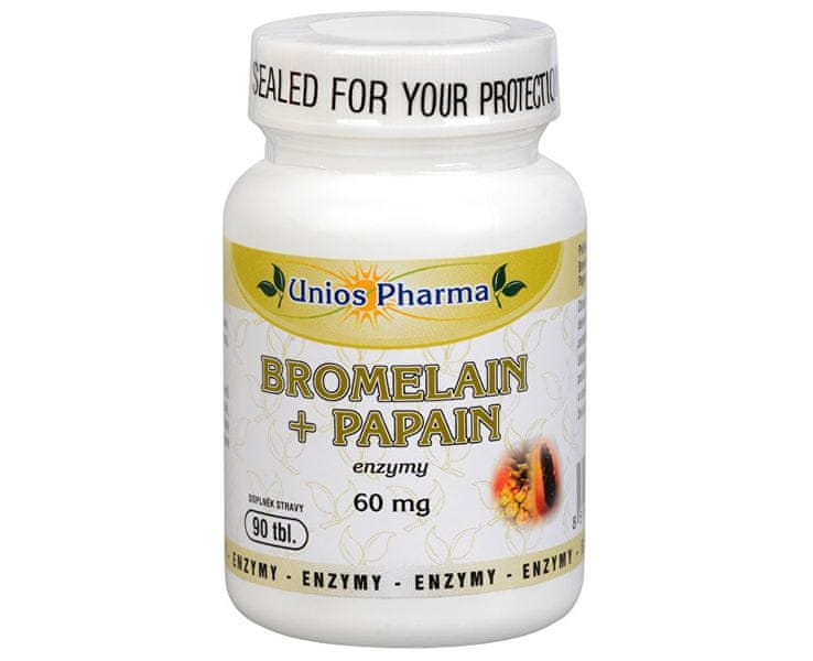 Unios Pharma Bromelain + papain 60 mg 90 tbl.