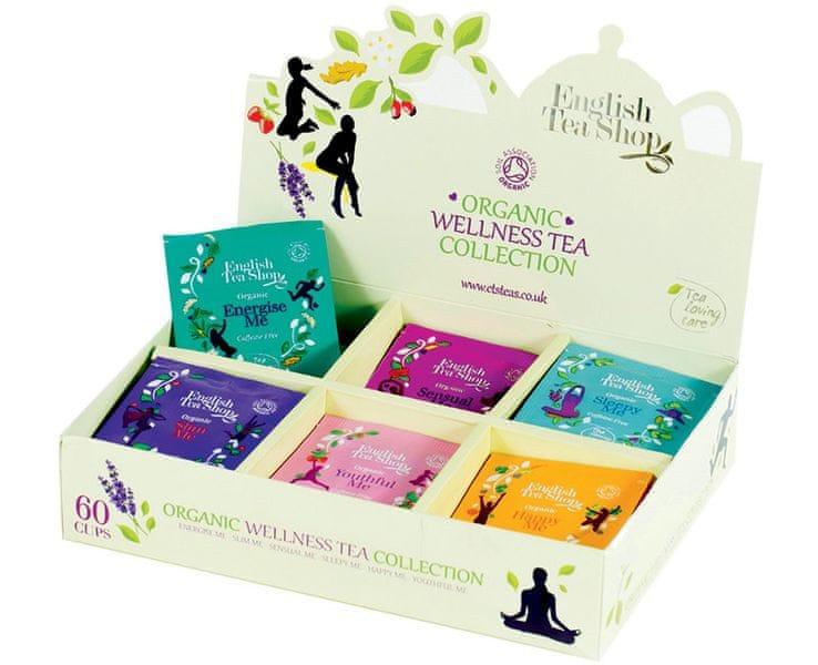 English Tea Shop Wellness kolekce 6 druhů čajů 60 sáčků
