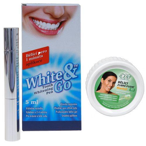 Eva Cosmetics Whitening Pen - bělící zubní pero 5 ml + EVA bělící zubní pudr 25 g ZDARMA