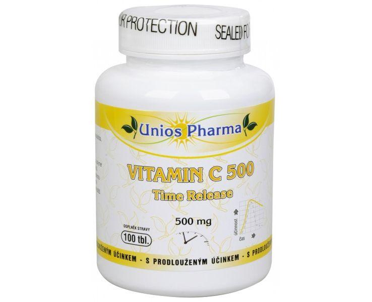 Unios Pharma Vitamín C 500 mg Time Release 100 tbl.