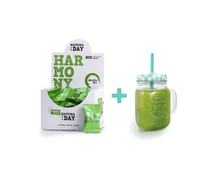 Čajová květina BIO Matcha Tea Harmony 60 g + sklenice zdarma