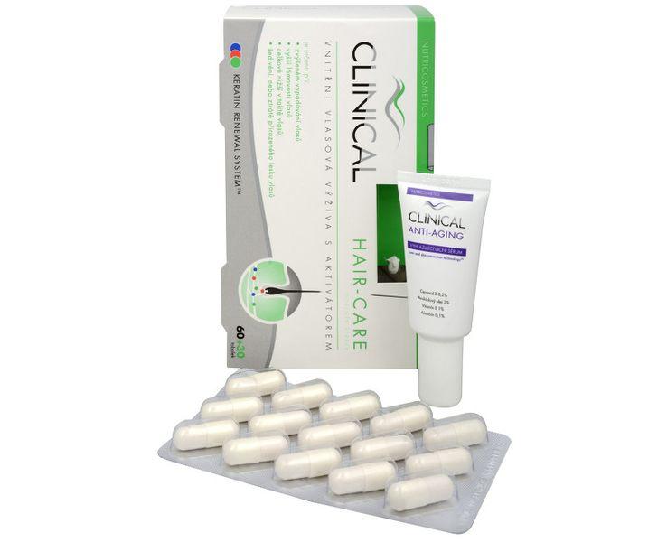 Clinical Hair-care 60 tob. + 30 tob. ZDARMA + Vyhlazující oční sérum 15 ml ZDARMA