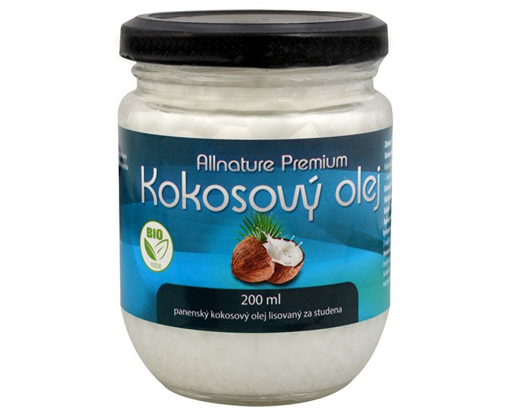 Allnature BIO kokosový olej Premium 200 ml