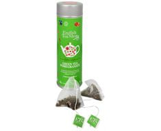 English Tea Shop Zelený čaj s granátovým jablkem - plechovka s 15 bioodbouratelnými pyramidkami