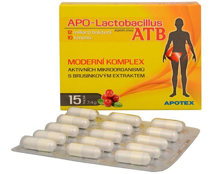 APOTEX APO-Lactobacillus ATB 15 kapslí