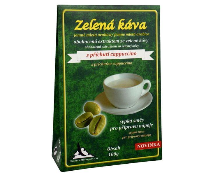 Phoenix Monopol Zelená káva 100 g (Příchuť Černá káva)