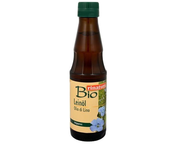 Rinatura Lněný olej 250 ml BIO - za studena lisovaný