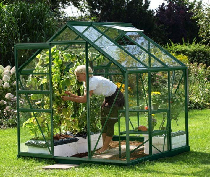 VITAVIA skleník VITAVIA VENUS 3800 čiré sklo 3 mm zelený