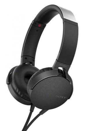 Sony slušalke MDR-XB550APB, črna
