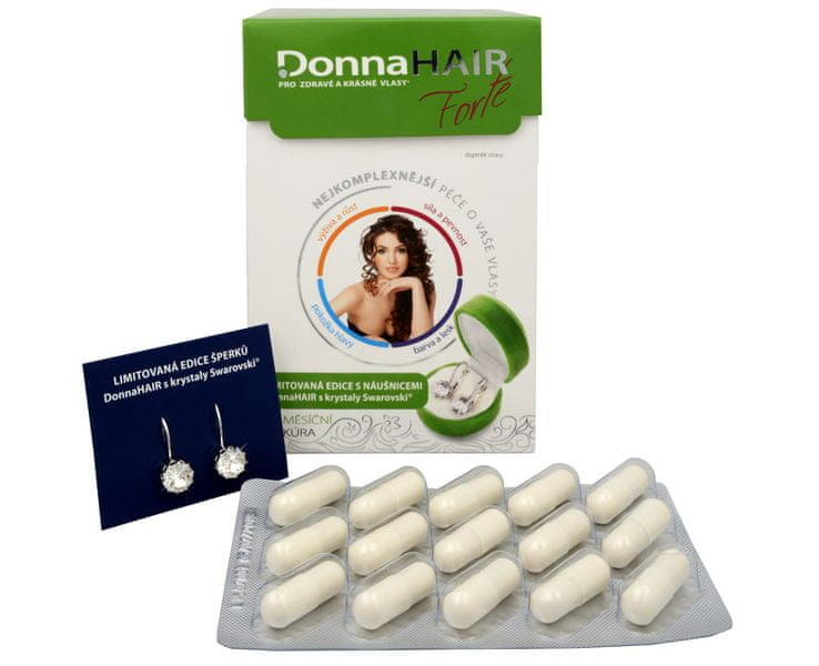 Simply you Donna Hair Forte 90 tob. + náušnice Swarovski ZDARMA
