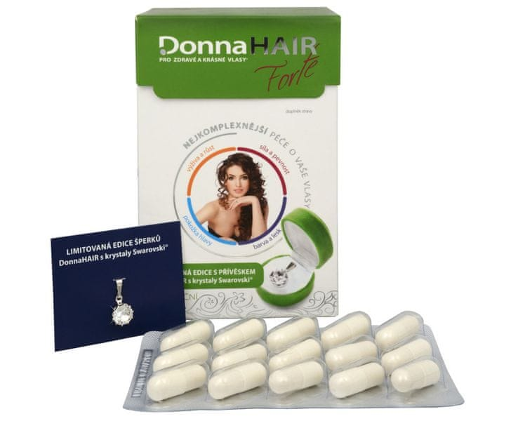 Simply you Donna Hair Forte 90 tob. + přívěšek Swarovski ZDARMA (model 2015)